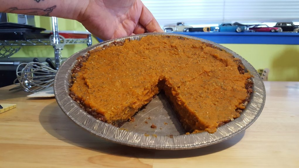 Pumpkin Pie No Oils, No Bake Plant Based