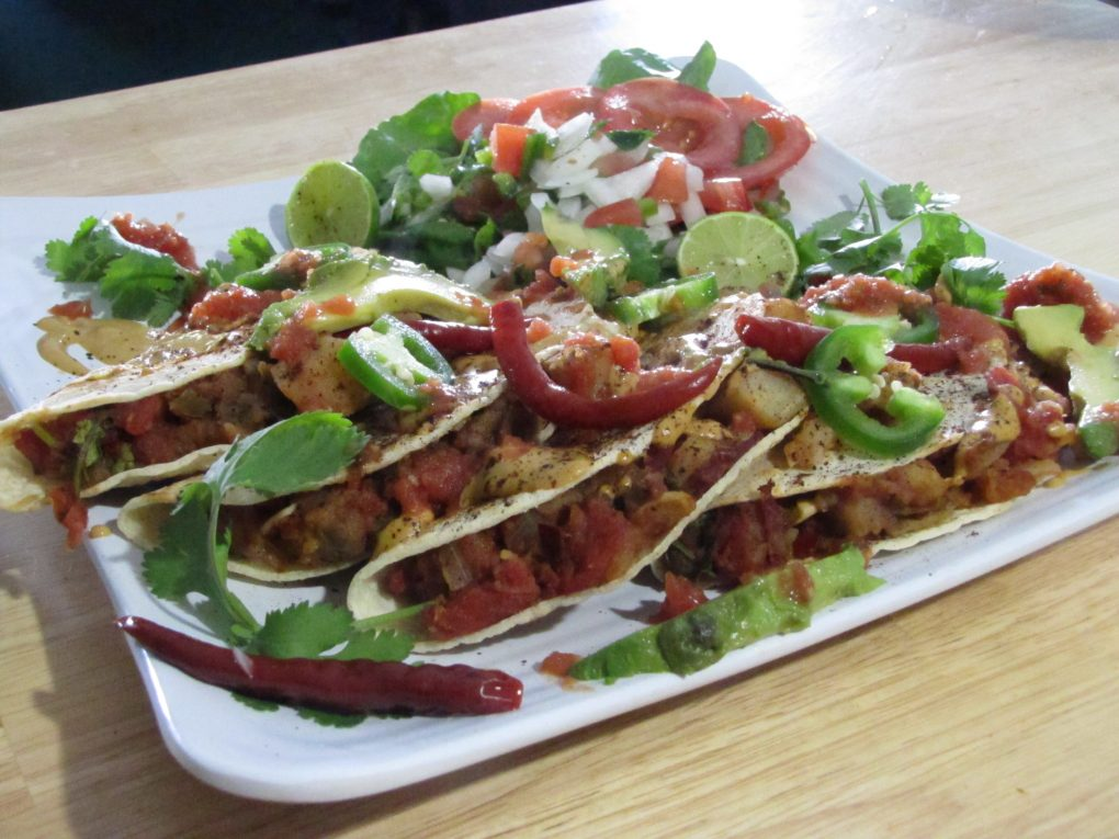 Plant Based Tacos Dorados